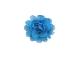 Haarbloem stof blauw