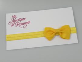 Haarbandjes elastisch strik geel