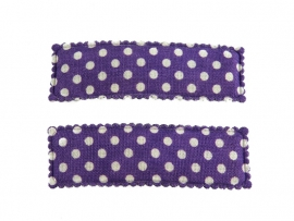 Haarspeldjes paars gestipt recht