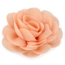 Haarbloem groot stof bloem zalm