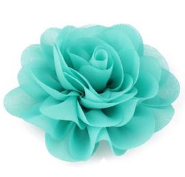 Haarbloem groot stof bloem groen