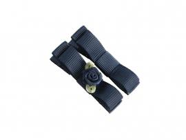 Lokknipje met lint donkerblauw met blauw roosje