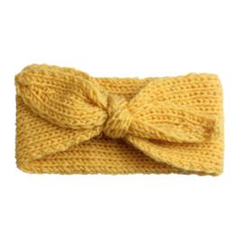 Haarbandjes gebreid geel