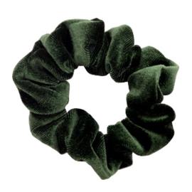 Haarelastiekjes velvet scrunchie green