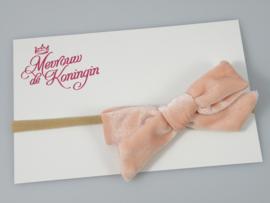Haarbandjes nylon fluwelen strik roze