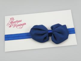 Haarbandjes elastisch strik blauw