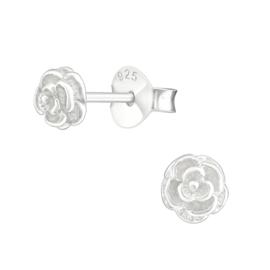 Oorbellen Sterling zilver 925 Roos