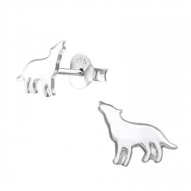 Kinderoorbellen Sterling zilver 925 Wolf