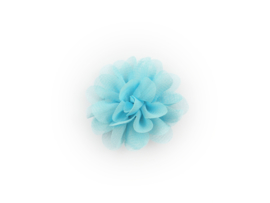 Haarbloem stof lichtblauw