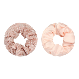 Haarelastiekjes satijnen scrunchie roze