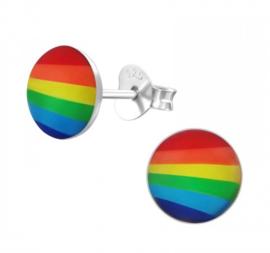 Kinderoorbellen Sterling zilver 925 Regenboog