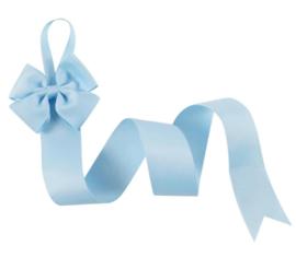Haarspeldhouder met strik blauw