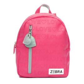 Zebra rugzakje - Holidays - Love - Pink (S)