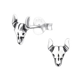 Oorbellen Sterling zilver 925 Stier