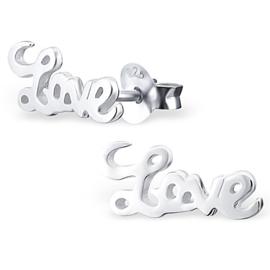Oorbellen Sterling zilver 925 Love