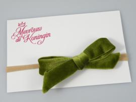 Haarbandjes nylon fluwelen strik groen