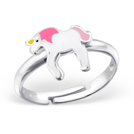 Kinderring sterling zilver 925 Unicorn
