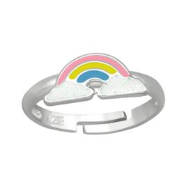 Kinderring sterling zilver 925 Regenboog