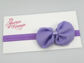 Haarbandjes elastisch strik paars