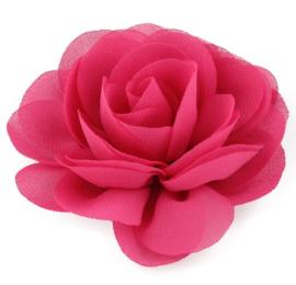 Haarbloem groot stof bloem fuchsia