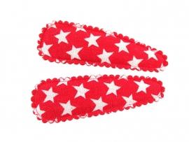 Haarspeldjes rood met ster