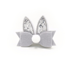 Lokknipje konijnenoortjes grijs