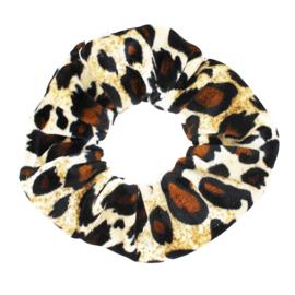 Haarelastiekjes velvet scrunchie panter