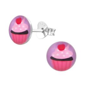 Kinderoorbellen Sterling zilver 925 Cupcake