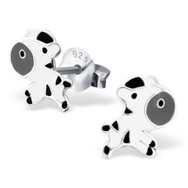 Kinderoorbellen Sterling zilver 925 Zebra