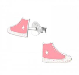 Kinderoorbellen Sterling zilver 925 Gymp roze