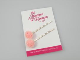 Schuifspeldjes roosjes met randje roze