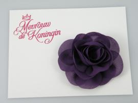 Haarbloem chiffon paars