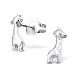 Kinderoorbellen Sterling zilver 925 Giraffe
