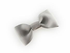 Lokknipjes kleine strik lint grijs