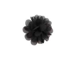 Haarbloem stof zwart