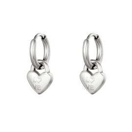 Creolen Chirurgisch staal Hanger heart