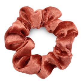Haarelastiekjes velvet scrunchie rust red