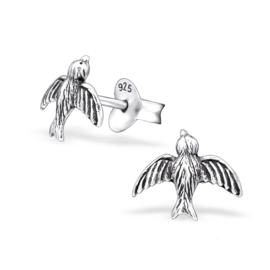 Oorbellen Sterling zilver 925 Vogel