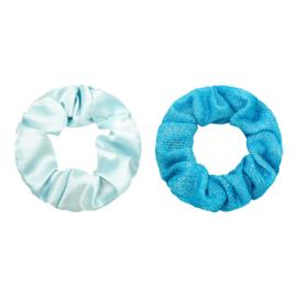 Haarelastiekjes scrunchie blauw