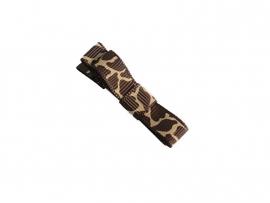 Lokknipje met lint bruin giraffe