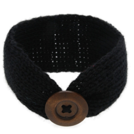 Haarbandjes gebreid knoop zwart