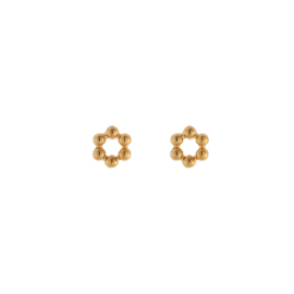 Oorbellen koper Mini circles