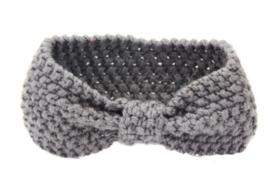Haarbandjes gebreid grijs