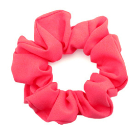 Haarelastiekjes scrunchie coral red