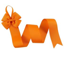 Haarspeldhouder met strik oranje