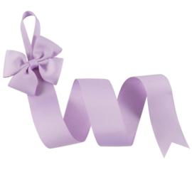 Haarspeldhouder met strik lila