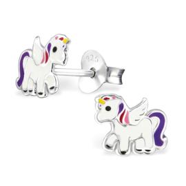 Kinderoorbellen Sterling zilver 925 Unicorn