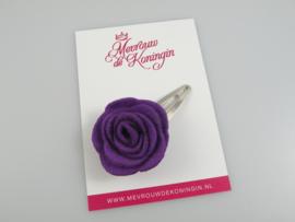 Haarspeldje vilten bloem paars