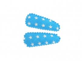 Babyhaarspeldjes lichtblauwe kleine ster