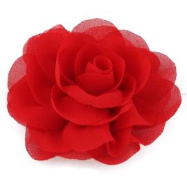 Haarbloem groot stof bloem rood